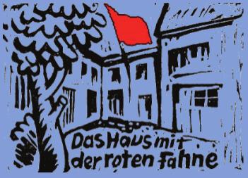 Bildergebnis für fotos vom haus mit der roten fahne in münchen